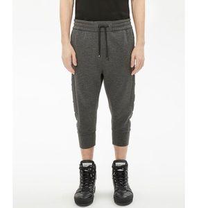 NWT Helmut Lang Men's cropped logo jogger pants